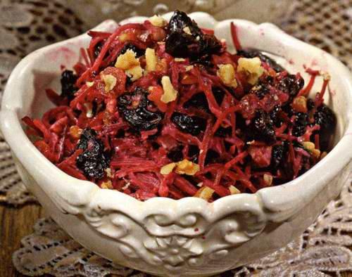 Салаты из свеклы и чернослива рецепты с