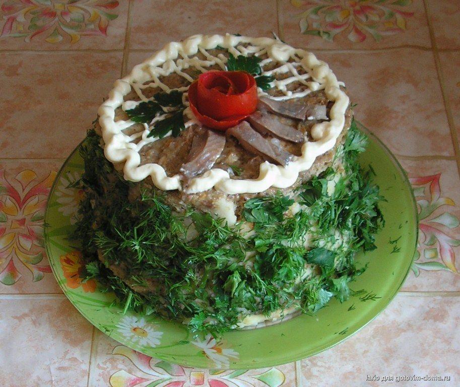 Торт с селедкой рецепт