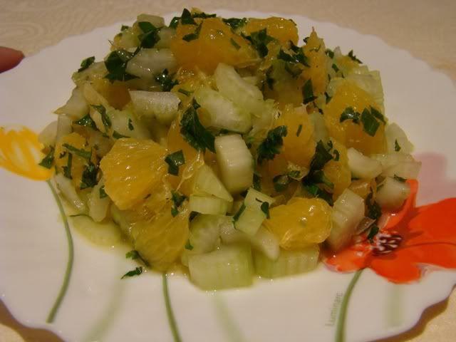 Сельдерей и апельсин салаты рецепты