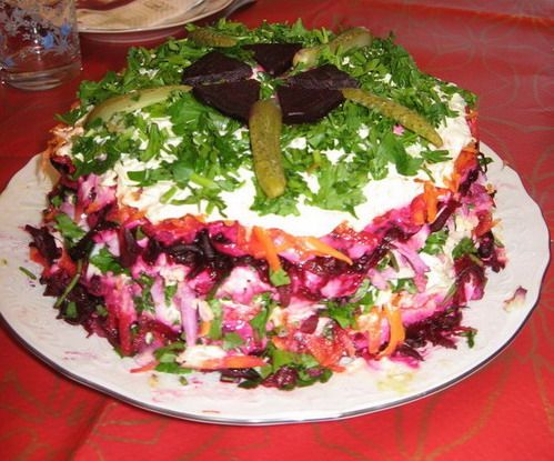 Вкусный овощной салат рецепт с