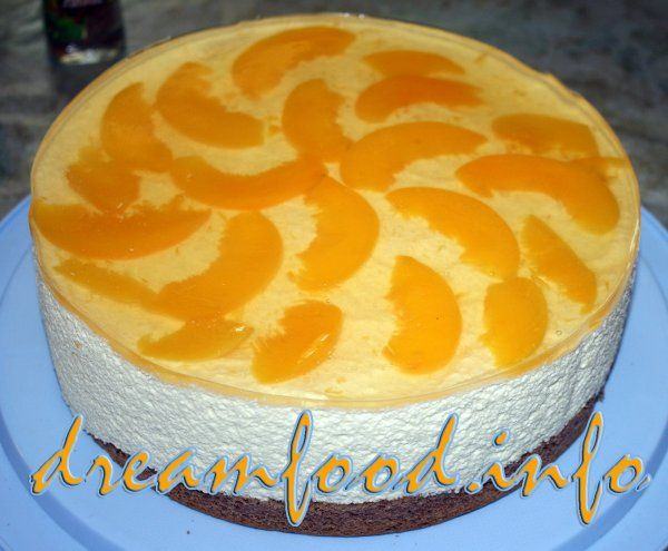 Торт творожный с желатином фото