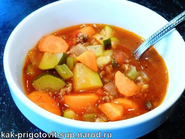 Суп из гуся с фасолью