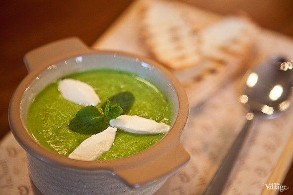 Суп пюре из зелёного горошка с фото