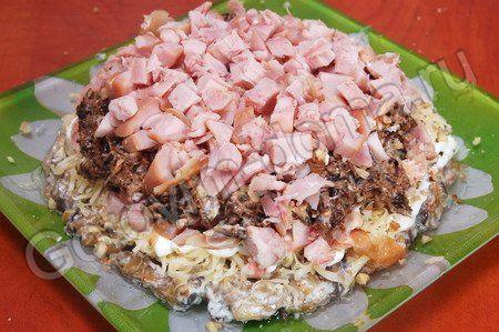 Салаты с копчёной курицей рецепты