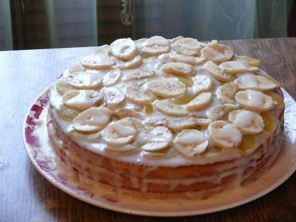 Торт бисквитный из коржей
