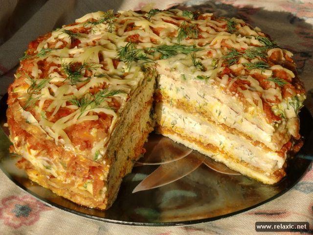 Кабачковый торт рецепт с фото пошагово с сыром