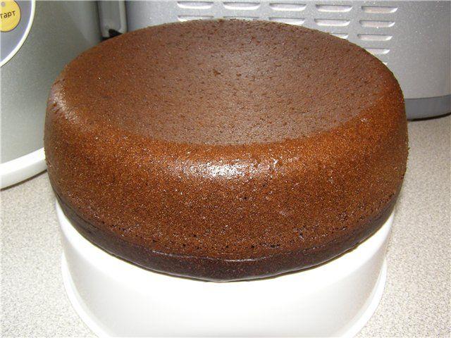 Шоколадный бисквитный торт в мультиварке рецепты с фото
