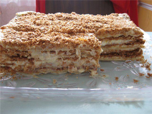 Рецепт вкусного простого торта со сгущенкой