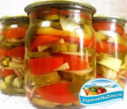 Рецепт на зиму салат помидоры с огурцами на зиму рецепты с