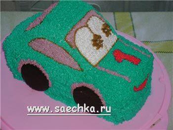 Торт на день рождения мальчика своими руками машинка