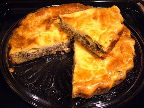 Пирожки с фаршем и яйцом в духовке рецепт
