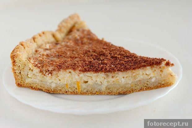 Пирог с бананами и творогом рецепт с