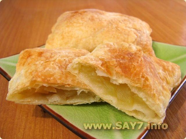 Пирог из слоёного тесто с яблоками рецепт с