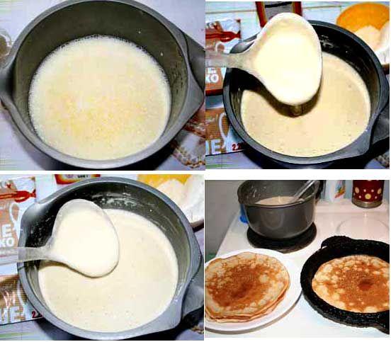 Рецепт с пошаговым фото блины
