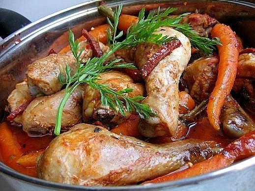 Блюда из курицы на сковороде рецепт