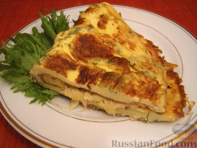 Рецепт омлет с сыром