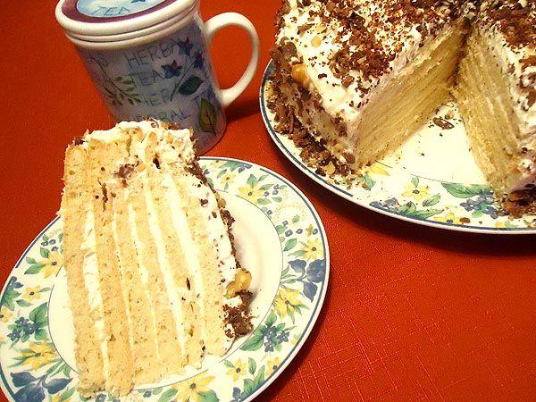 рецепт торта без масла и сметаны