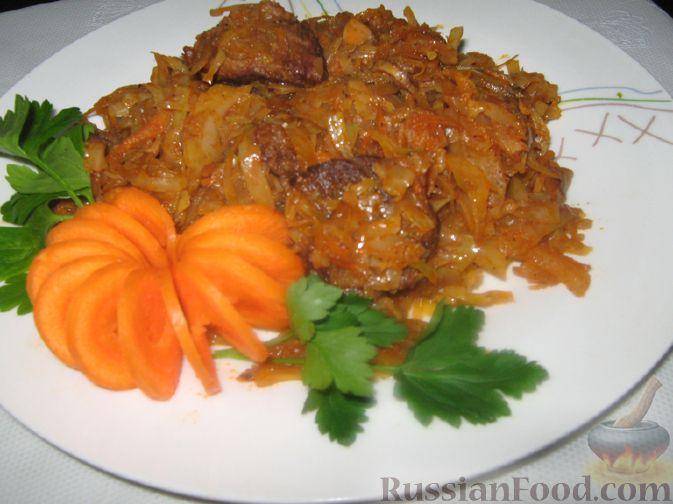 Тушеная капуста пошаговый рецепт с с мясом