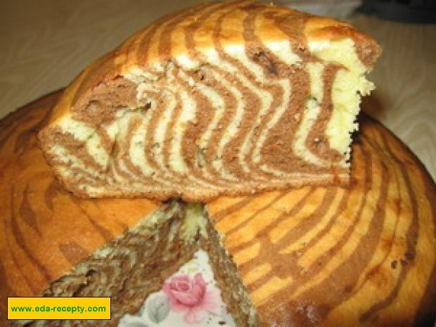 Бисквит зебра рецепт с пошагово без сметаны
